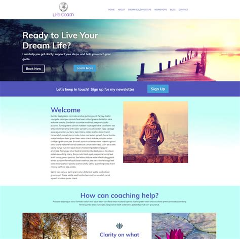 website templates for life coaches holistic wellness website templates divi layouts