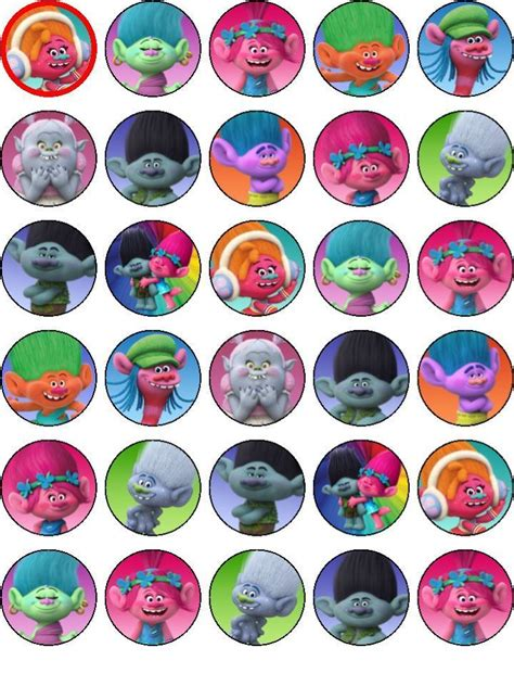 Birthday Decoration At Home For Kids by 30 Trolls Edible Precut Cupcake Toppers Party Decoration