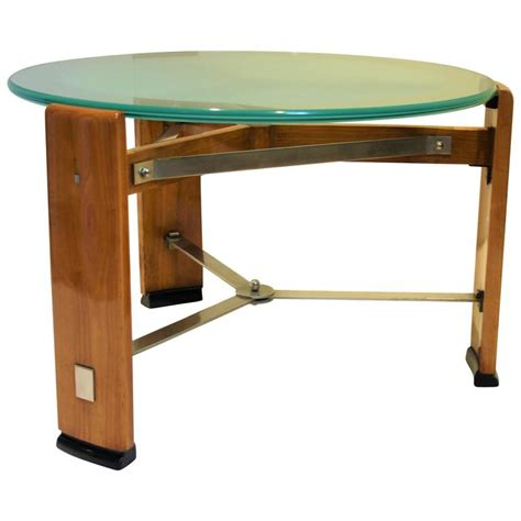 Modernist Art Deco Coffee Table Signed By Chambon 1920s Deco Coffee Tables For Sale