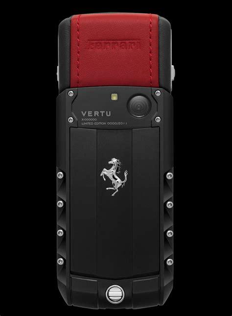 vertu phone ferrari limited edition vertu ascent ferrari gt phone designed