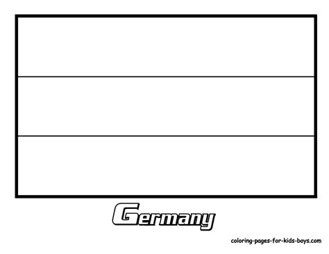 free coloring pages of german flag