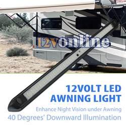 black 12v led awning strip light exterior camping rv caravan boat roof wall lamp ebay