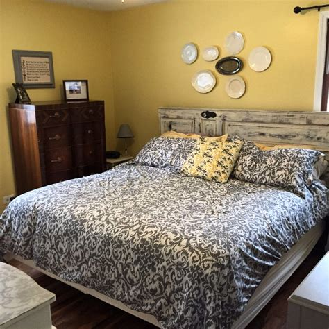 hometalk ideas for redecorating a gray and yellow master