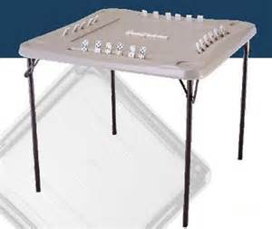 almond folding domino square care table so 2492 22 pack