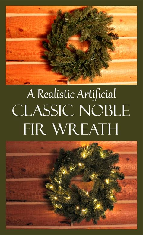 a realistic artificial classic noble fir wreath day by