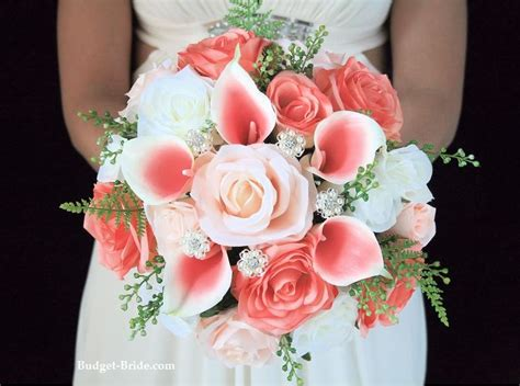 best 25 coral wedding bouquets ideas on coral wedding flowers coral navy weddings