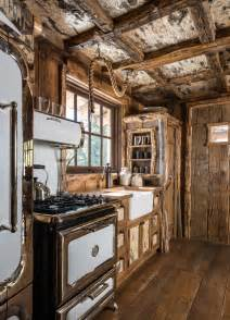Rustic Cabin Kitchen Cabinets by Pearson Design Group Cedarview Guest Cabin