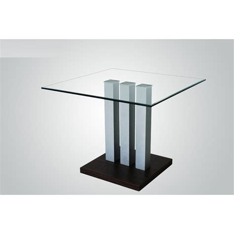 villa clear glass square dining table only 17453 furniture