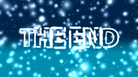 blue ending the end title the end 01 hd glowing the end text on