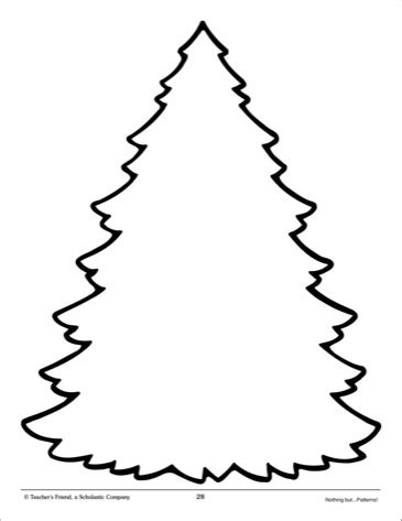 printable large christmas tree template tree pattern clipart best