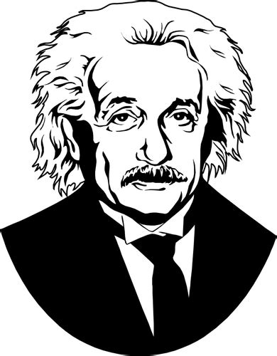 Albert Einstein vector image | Public domain vectors