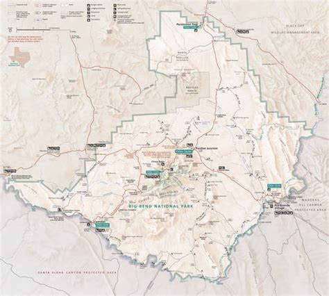 big bend national park texas map big bend national park maplets