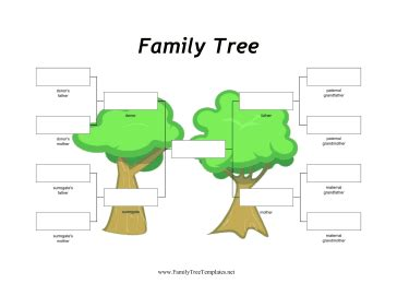 donor and surrogate family tree template