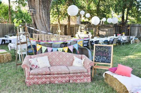 domestic fashionista country backyard birthday
