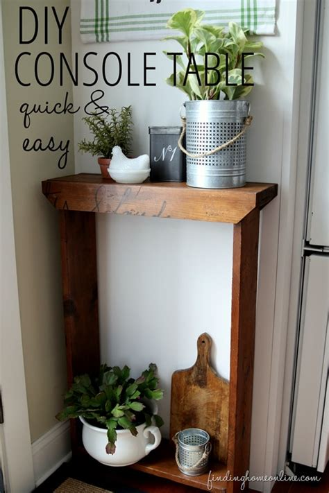 easy diy console table and easy diy console table finding home farms