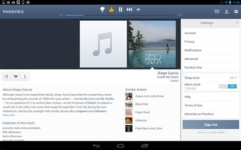 pandora android listen up android tablet users pandora has an update for you