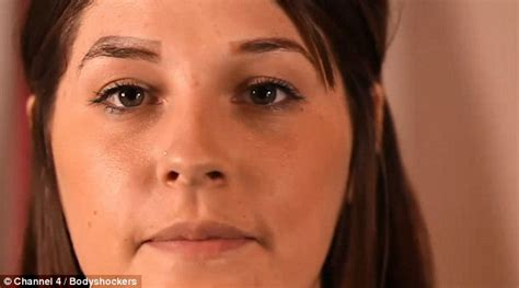 tattoo eyebrows daily mail botched permanent make up leaves care worker with four