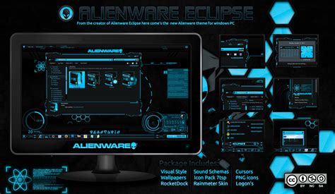dta themes download center alienware eclipse blue mr blade designs