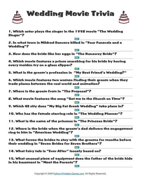 bridal shower trivia questions template wedding wedding trivia 1 95 wedding printable trivia