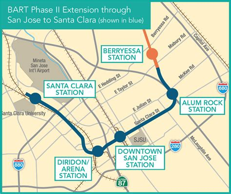 bart san jose extension map the economic impacts of infrastructure investment bay