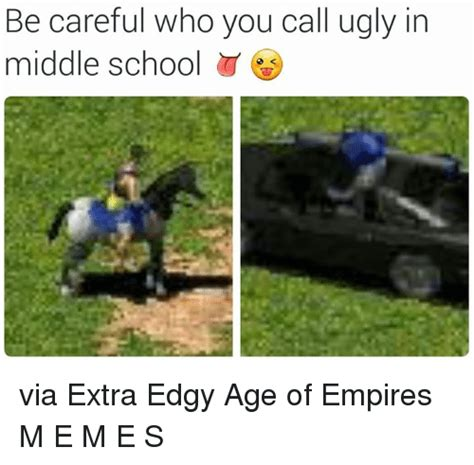 Age Of Memes - be careful who you call ugly in middle school via extra