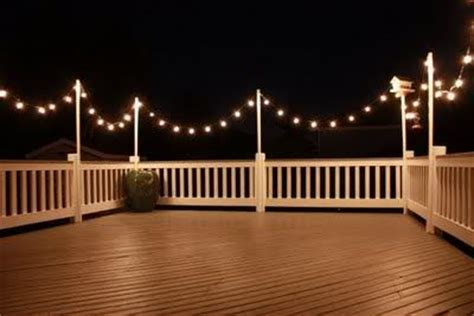 deck string lights restaurant restaurants and string lights on