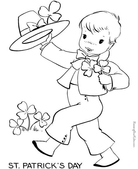 st patricks day coloring pages 001