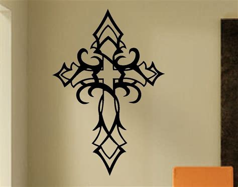 cross tattoos with sayings tribal cross wall decal religious decals christian