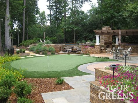backyard greens pin by melanie risk on landscape putting green pinterest
