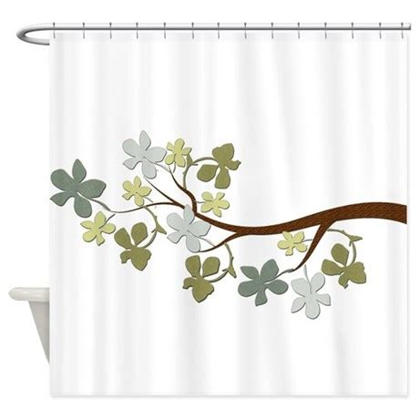 tree branch shower curtain leafy tree branch shower curtain by natureslittletreasures