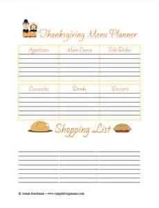 thanksgiving menu planner template free printable thanksgiving menu planner simple living