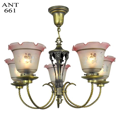 edwardian light fixtures vintage hardware lighting edwardian chandelier 5 arm