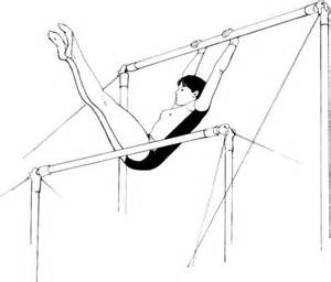 usa gymnastics coloring pages uneven bars performance coloring page free printable
