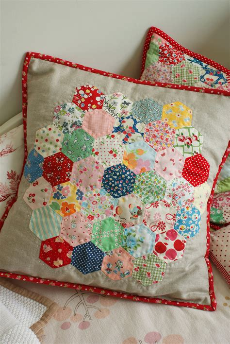 Patchwork Designs For Cushions - hexagon pillow hexagon quilting pillows