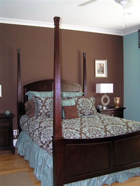 romantic brown  blue bedroom ideas