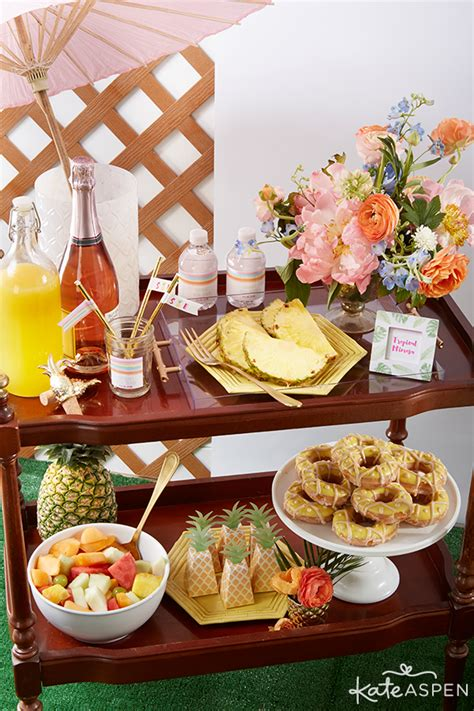 couples wedding shower food ideas 2 how to throw a chic pineapples and palms bridal shower