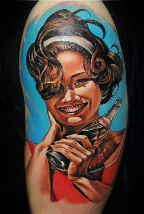 tattoo placement for pin up girl vintage pepsi pin up girl tattoo beautiful the ooooo