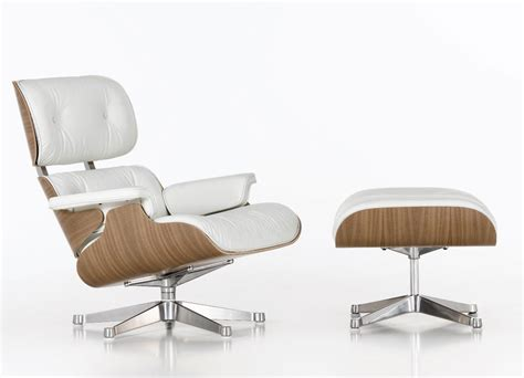 lounge chair ottoman vitra eames lounge chair ottoman in whites charles