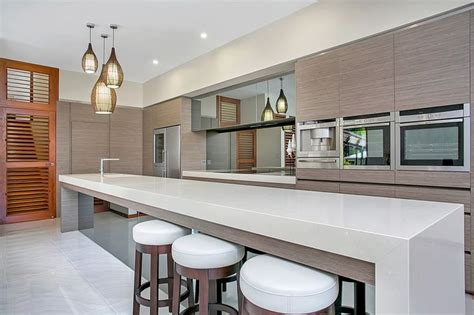 straight line kitchen with island low level slimline entrant tropical trend homes month may product used