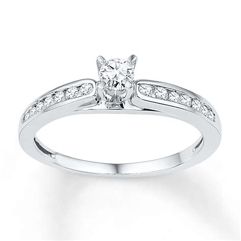 jared promise ring 1 3 ct tw cut 10k white