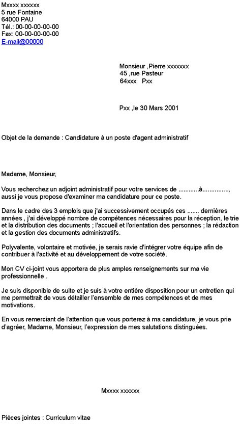 Lettre De Motivation De Assistant Administratif lettre de motivation assistant administratif mairie