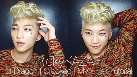 how to do gdragon hairstyle bigbang g dragon crooked hair tutorial rickykazaf