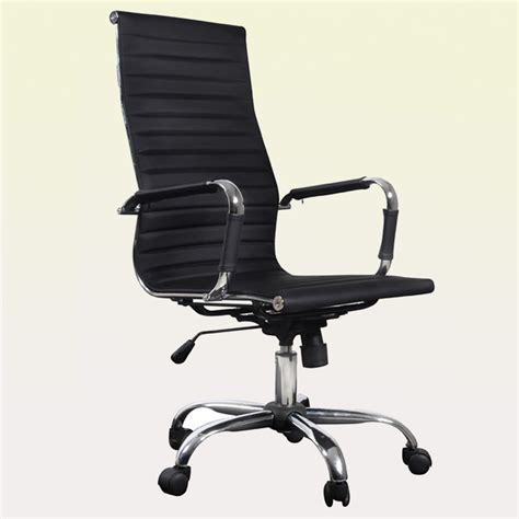Black Leather Office Chair by Black Leather Office Chair High Back Vidaxl
