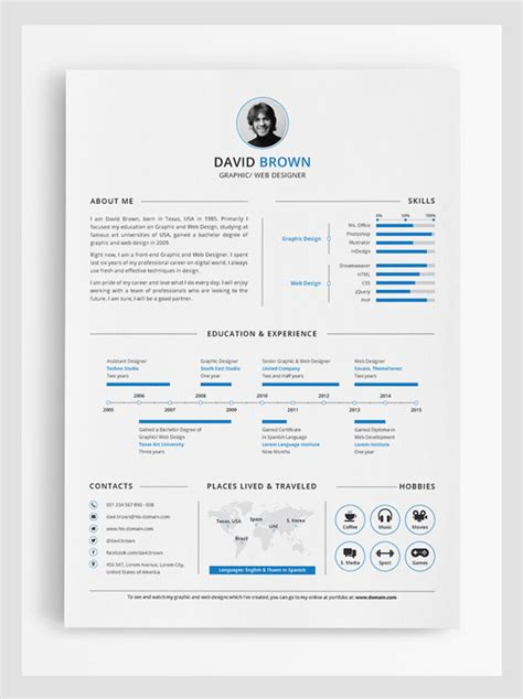 Best Infographic Resume Templates by Modern Cv Resume Templates With Cover Letter Design