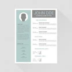 Template Of Curriculum Vitae curriculum vitae template design vector free