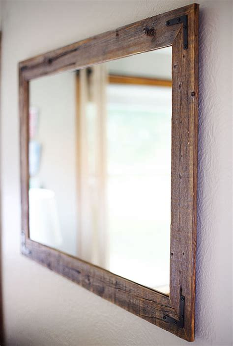 Wooden Framed Mirrors For Bathroom Rustic Wall Mirror Large Wall Mirror 42 X 30 Vanity Mirror