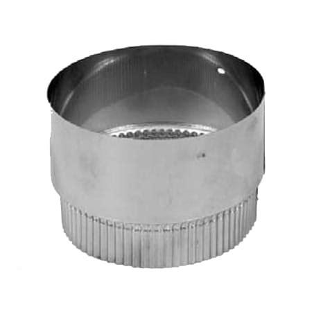 Chimney Liner Connector - metalbest 176060 stainless steel 6 quot chimney liner flex