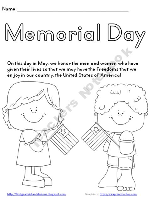 preschool coloring pages for memorial day memorial day coloring page freebie free prek 2nd