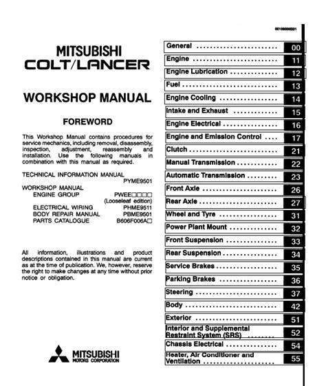 chilton car manuals free download 2004 mitsubishi lancer instrument cluster mitsubishi colt lancer 1992 2004 service manual repair manual order download