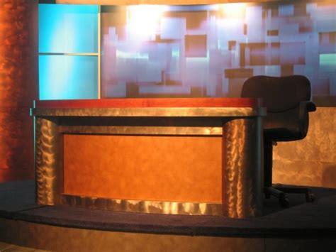 News Studio Desk tv set designs robust news desk